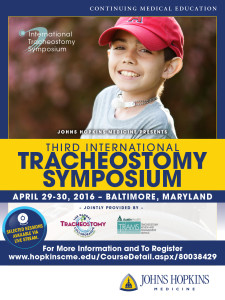 April 2016 - 3rd International Tracheostomy Symposium (ITS) - Johns Hopkins Medicine